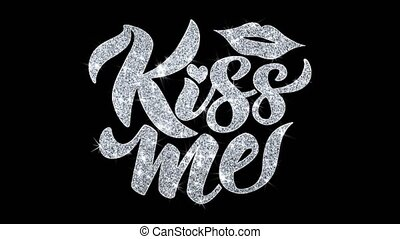 Kiss Me Blinking Text Wishes Particles Greetings,...