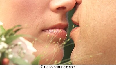 Kiss of Bridal Couple