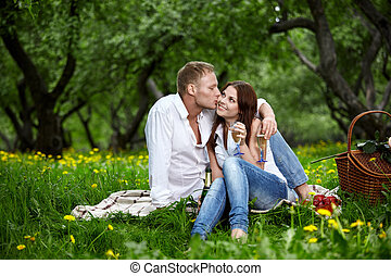 Kiss of the enamored man