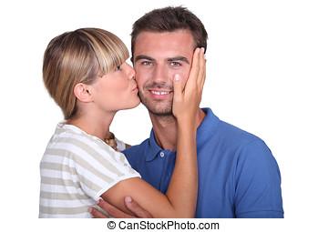 Kiss on the cheek