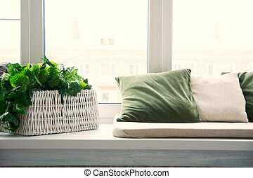 dekor blumen engelhaft fensterbank fenster reizend. Black Bedroom Furniture Sets. Home Design Ideas
