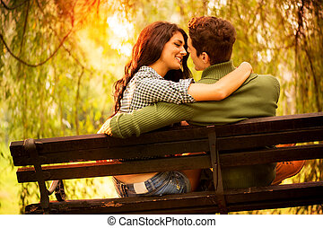 Kisses On A Park Bench