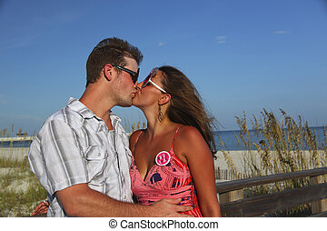 Kissing at the Beach