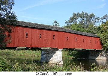 Kissing Bridge - Only covered bridge left in Ontario....