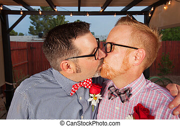 Kissing Gay Couple