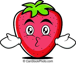 Kissing strawberry cartoon character style