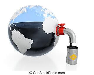 kitépés, olaj