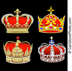 Kit an imperial crown with an ornament on a black...