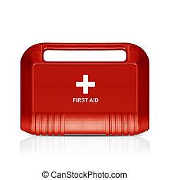 kit de primeros auxilios, rojo