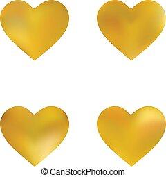 kit, fondos, chromatic, hearts.
