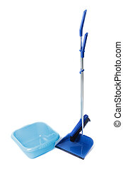 Kit for cleaning. Basin, shovel and broom