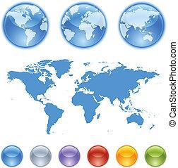 kit, la terre, globes, création