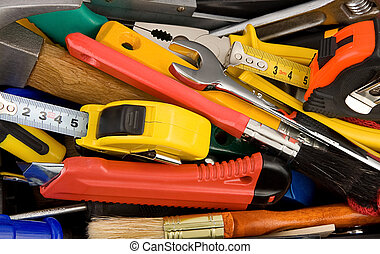 kit of tools and instruments in box - kit of tools and...