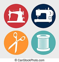 kit sewing character icon