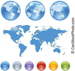 kit, terra, globi, creazione