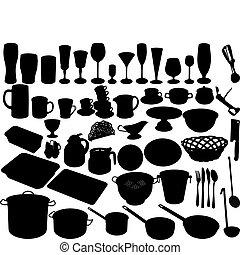 kitchen accessories - kitchen shut oneself off on white...