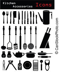 Kitchen Accessories - Various kitchen accessory silhouettes...