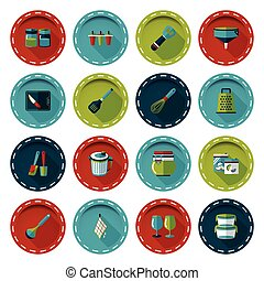Kitchen and cooking icons set