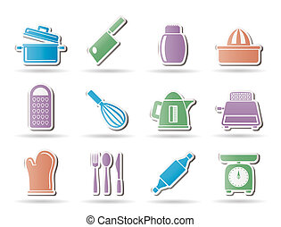 Kitchen and household Utensil Icons