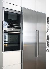 Kitchen appliance, close up of modern