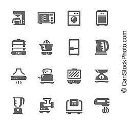 Kitchen Appliances - Set of Simple icons related to kitchen.