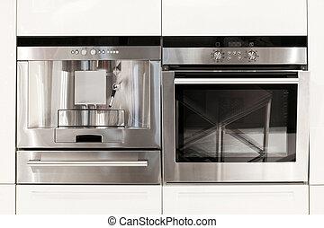 Kitchen appliances - Silver kitchen appliances coffee...
