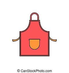 Kitchen apron cartoon icon
