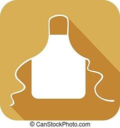 kitchen apron flat icon