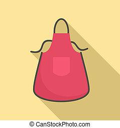 Kitchen apron icon, flat style