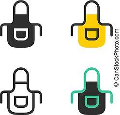 Kitchen apron icons