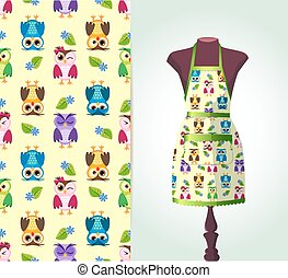 kitchen apron on a dummy3