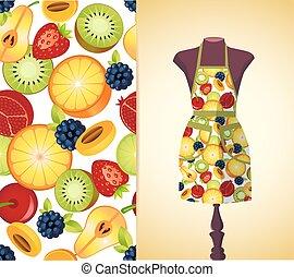 kitchen apron on a dummy4