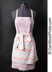 kitchen apron on black