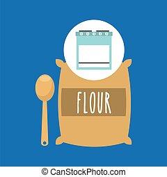 kitchen bakery concept flour sack