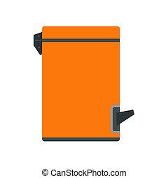 Kitchen bin icon, flat style