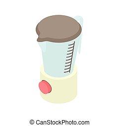 Kitchen blender machine icon, cartoon style