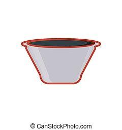 kitchen bowl isolated icon