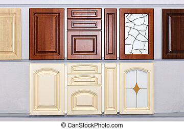 Kitchen cabinet doors - Decorative wooden kitchen cabinet...