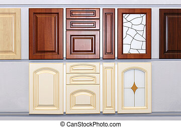 Kitchen cabinet doors - Decorative wooden kitchen cabinet...