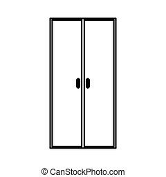 Kitchen cabinet isolated icon