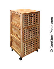 Kitchen cabinet - Mobile kitchen cabinet isolated with...