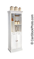 Kitchen cabinet - Retro wooden kitchen cabinet isolated with...