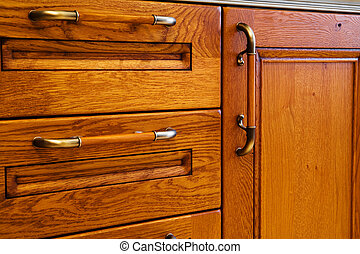 kitchen cabinet - Beautiful and wooden kitchen cabinet with...