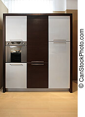 Kitchen cabinet - Contemporary wooden kitchen cabinet with...