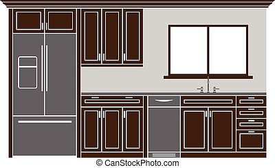 Kitchen cabinets Illustrations and Clipart. 5,653 Kitchen ...