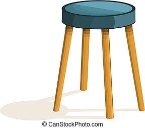 Kitchen chair icon, cartoon style