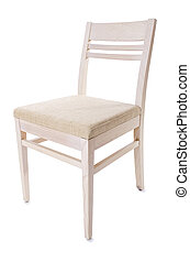 Kitchen chair isolated on the white