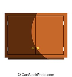 Kitchen chest of drawers vector illustration design
