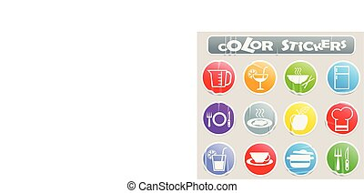kitchen color stickers