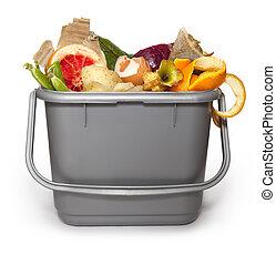 Kitchen composting bin - Isolated Kitchen composting bin...